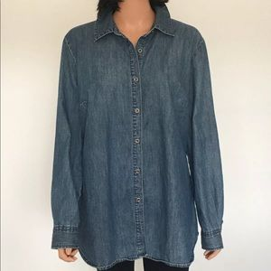 Style & Co. Plus Size Denim Shirt Designer Detail